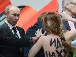 普京回应女子裸胸示威我还没来得及看清
