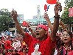 """泰国""""红衫军""""在曼谷举行大规模集会"""