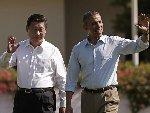 习近平与奥巴马在加州庄园内散步