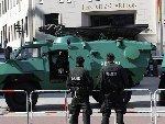 奥巴马访德国 下榻酒店附近装甲车护航