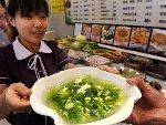 青岛一家饭店将浒苔加工成多种美食